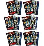 Set de cumpleaños de 1260 piezas – Star Wars – 6 álbumes de pegatinas – obsequios para bolsas de fiesta / cumpleaños infantiles