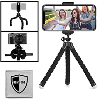 """GearFend 6.5"""" Flexible Universal Tripod, Smartphone Tripod Mount for All iPhones, Samsung Phones and Most Mobile Phones Pl..."""
