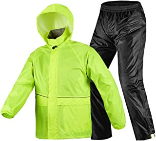 RYY Raincoats Rain Suit (Rain Jacket and Rain Pants Set),Riding Breathable Rainwear + Trousers Waterproof Electric Cars Sp...