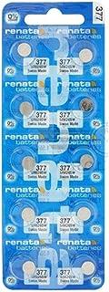 10 Pack 377 Renata Silver Oxide 0% Mercury Electronic Batteries SR626SW