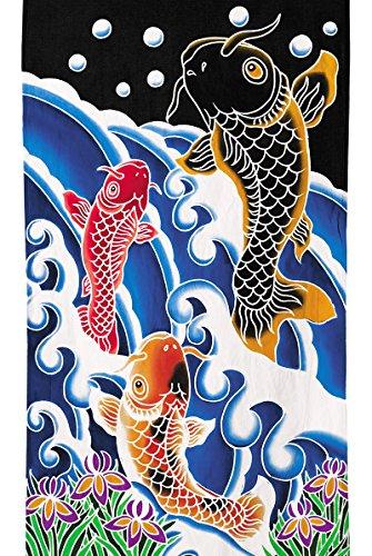 ワタナベ鯉のぼり『手描き本染タペストリー(鯉の滝のぼり(大))』