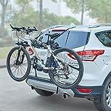 Blueshyhall Portabici Posteriore con Cinghie per 2 Biciclette