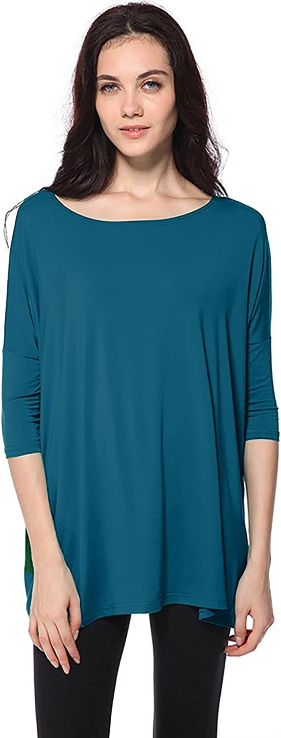Piko Womens Famous 3//4 Sleeve Bamboo Top Loose Fit
