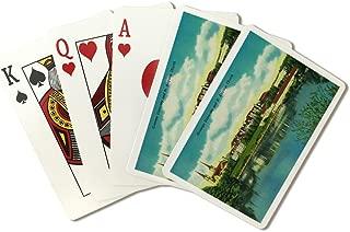 Spokane, Washington - Gonzaga University and St. Aloysius Church - Vintage Halftone (Playing Card Deck - 52 Card Poker Size with Jokers)
