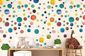 WALPLUS Aquarel Dots Muursticker, Vinyl, meerkleurig, 35 x 24 x 20 cm