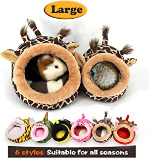 MYIDEA Warm Guinea Pigs Bed,Hedgehog Winter Nest,Rat Chinchillas & Small pet Animals Bed/Cube/House, Habitat, Lightweight, Durable, Portable, Cushion Big Mat