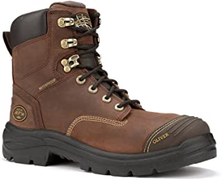 Oliver Men's 55 Series Lace-Up Waterproof Work Boots, Brown, 13 M