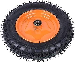 YJJT Trolleywielen, zwarte rubberen opblaasbare banden, met dubbele lagers, goede afdichting, geen luchtlekkage, Push-pull...