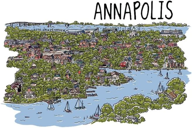 Annapolis OFFicial mail order Maryland - Challenge the lowest price of Japan Line Drawing Gallery 36x54 Giclee Print