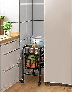 Water cup Chariot de rangement à roulettes pour cuisine avec tiroirs coulissants pour cuisine, bureau, salle de bain, buan...