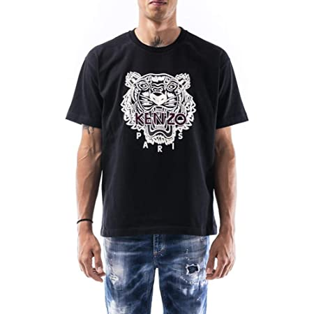 Kenzo Icons Tiger T-Shirt (Colour : Black - Size :