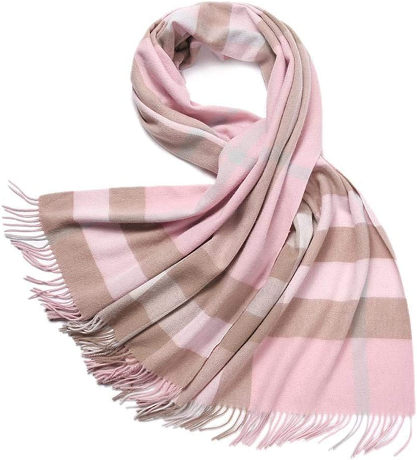 Gquan Fashion Scarf Autumn Winter Thickening Fashion Shawl Scarf Warm Lattice widening Lady's Scarf Shawl
