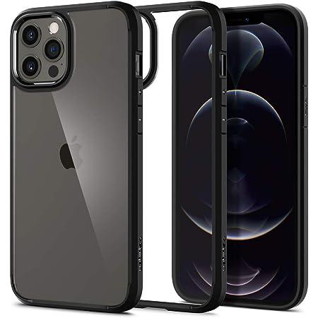 Spigen iPhone 12 Pro Max 用 ケース 6.7インチ MagSafe 対応 背面クリア バンパーケース 米軍MIL規格取得 耐衝撃 すり傷防止 ワイヤレス充電対応 アイフォン12プロマックスケース ウルトラ・ハイブリッド ACS01619 (マット・ブラック)