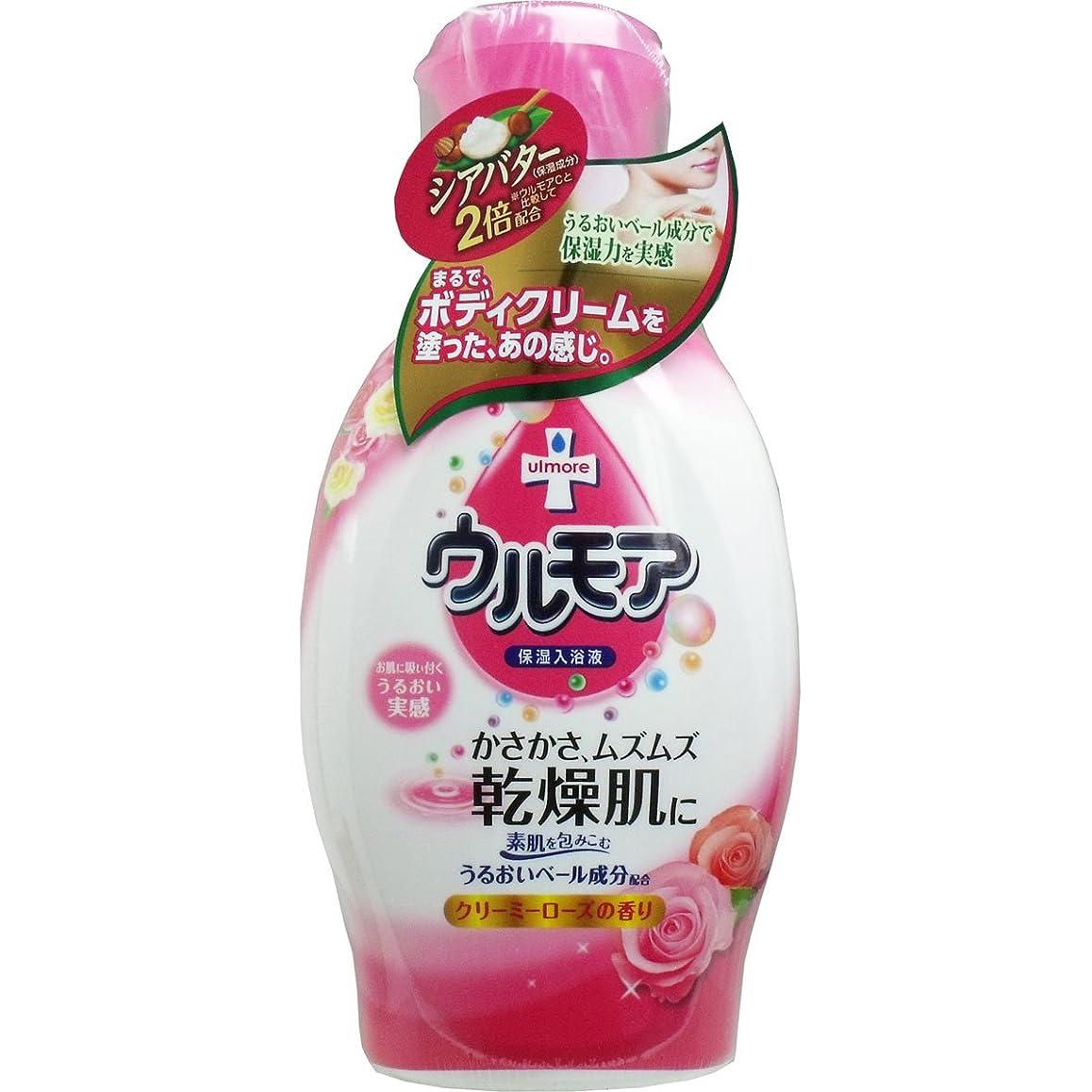 攻撃的内訳なす【アース製薬】保湿入浴液ウルモアクリーミーローズの香り 600ml ×5個セット