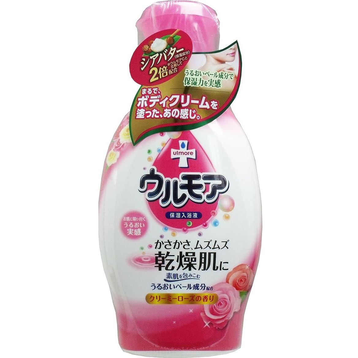 飲食店良い貧しい【アース製薬】保湿入浴液ウルモアクリーミーローズの香り 600ml ×5個セット