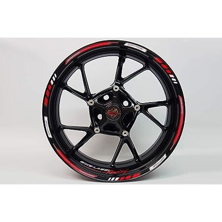 Impressiata Motosticker Kompatibel Für Motorrad Felgenaufkleber Specialgp Rot Komplett Aufkleber Aufkleber Bmw S1000r Auto