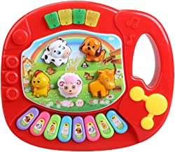 Musical Instrument Toy Animal Farm Piano Developmental Music Educational Toys for Kids Children Toddlers Red