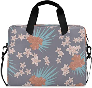 """Tropical Flowers Isolated 15.6"""" 16"""" Laptop Case Sleeve Briefcase Computer Shoulder Bag W/Strap"""