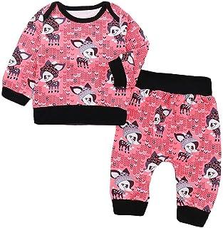 snowvirtuosau 2pcs Spring Newborn Baby Clothing Set Long Sleeve Sweatshirt Pants Outfits