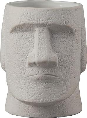 サンアート おもしろ食器 「 モアイ像 」 マグカップ 500ml グレー SAN3015