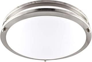 Luxrite LED Flush Mount Ceiling Light, 14 Inch, Dimmable, 5000K Bright White, 1652lm, 22W Ceiling Light Fixture, Energy Star & ETL - Perfect for Kitchen, Bathroom, Entryway, and Living Room