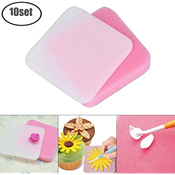 BESTONZON 2PCS 5//12 Holes Flower Foam Pads Fondant Shaping Foam Sugarcraft Modelling Pad