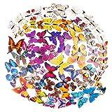 84 Pz Mariposa 3D Pegatinas de Pared Adhesivos Mariposas 3D