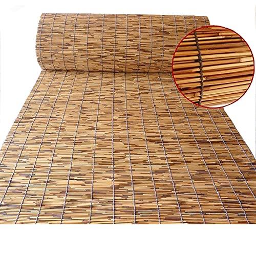 ADASP Persianas Enrollables Exterior, Estores Plegables, persiana Bambu, Cortina de Paja,Estores de Bambú, Personalizables Reed Roller Blinds Diversos tamaños Cortina de Paja Natural