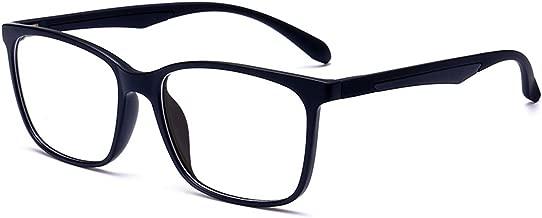 ANRRI Blue Light Blocking Glasses, Anti Eyestrain UV Filter Lens Lightweight Frame Computer Game Eyeglasses, Men/Women
