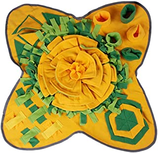 Dog Feeding Mat Pet Treat Puppy Brain Snuffle Mat,Interactive Pets Puzzle Toys,Dog Smell Nosework Training Pad, for Encour...
