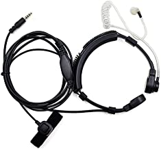 FANVERIM 3.5mm Jack Plug Cool Throat Mic Microphone Covert Acoustic Tube Earpiece Headset Finger PTT Mobile Phone Vocal Hands-Free in-Ear Military Headset/Headphones / Earphones