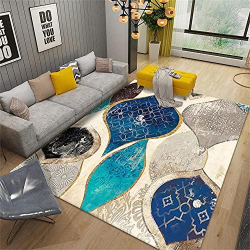Alfombra para sala de estar dormitorio decoración estética pavo real verde dorado negro gris moderno minimalista geométrico diseño gráfico estético decoración de la habitación 80X200cm