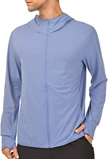 Sponsored Ad - qualidyne Men's UV Sun Protection Hoodie Zip-up Long Sleeve Hiking Jacket Outdoor UPF 50+ Performance Runni...
