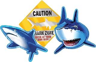 Creative Converting 990887 Shark Splash 3 Count Cutout Party Decorations