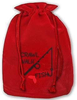 Not applicable Bolso Walk Walk Fish Merry Christmas Drawstring Beam Port Bolsa de Almacenamiento de Lona Bolsa de Regalo Hometom Christmas