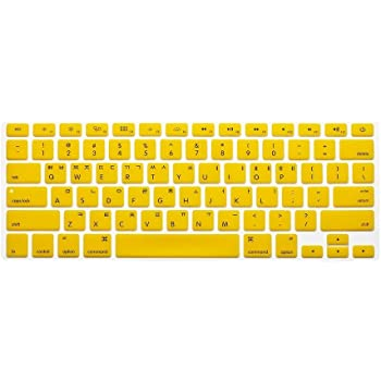 Korean//English Keyboard Cover Orange HQF Notebook SiliconeKorean Keyboard Skin Protection Laptop Layout for All Apple MacBook Air Pro 13 15 17