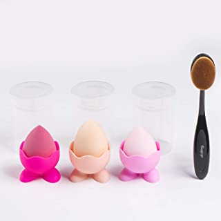 Makeup Tools 3+3+1,Makeup Blending Sponges, Sponge silicone stander and Foundation Brush, powder puff,blending brush