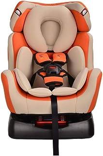 HIZH Asiento De Seguridad del Bebé Puede Sentarse Asiento Reclinable Silla De Coche del NiñO del Bebé De 0-4-6 AñOs De Edad De FijacióN del CinturóN De Seguridad, Naranja
