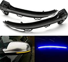 F Finec A Pair Dynamic Turn Signal Light Side Mirror Indicator for Audi A4 S4 RS4 A5 S5 RS5 B9 2017 2018 with Sparkling Blue Light