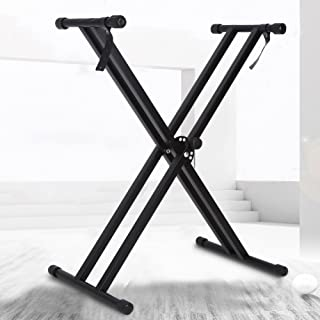 X Type Keyboard Stand, Portable Piano Keyboard Stand Double