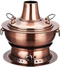 Hot Pot Cooker, Chinese Hot Pot, Hotpot Pot Electric, pour 1-6 Personnes Réunions de famille de Noel Charbon de bois et d'...
