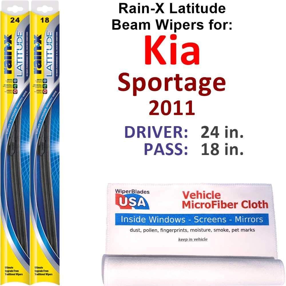 Super popular specialty store Rain-X Latitude Beam Sales Wiper Blades for Set Sportage Rain 2011 Kia