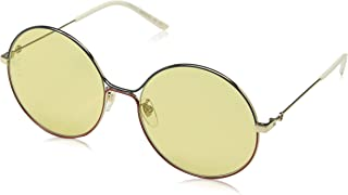 Gucci GG0395S Sophisticated 80's Oversize Round Metal Sunglasses 58mm