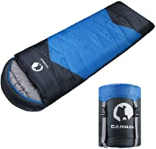 CANWAY Sleeping Bag with Compression Sack, Lightweight and Waterproof for Warm & Cold Weather, Comfort for 4 Seasons Campi...