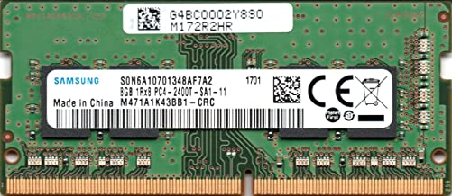 Samsung 8GB DDR4 PC4-19200, 2400MHz, 260 PIN SODIMM, Dual...