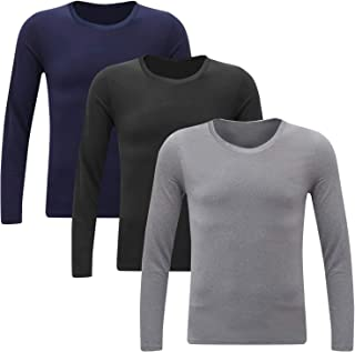 TUPARKA Mens Turtleneck Soft Long Sleeve Top Ski Golf Crew Neck Thermal T Shirt Jumper for Men Large Size