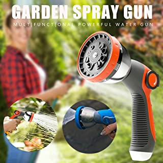 Amaae High Pressure Water Spray Lengthen Adjustable Nozzle Car Washing Garden Tool(Coloe:Orange,Material:Alloy)