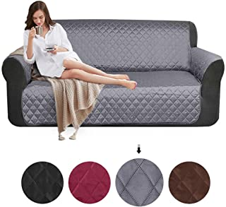 cce3d8787411 SearchI Fundas de Sofá 3 Plazas Impermeable Cubierta para Sofa Reversible  Cubre de Sofa Antideslizante Protector