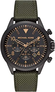 Michael Kors Gage Men's Black Dial Nylon Analog Watch - MK8788