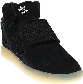 adidas Men's Tubular Invader Strap Core Black/Vintage White High-Top Leather Basketball Shoe - 8M